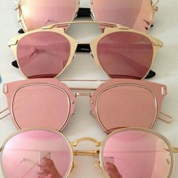 Fashion Upscale Metal Sunglasses