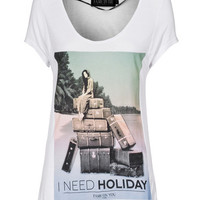 FAME ON YOU I Need Holiday White Jersey-T-Shirt mit Print - What's new