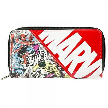 Marvel Comics Large Zip Around Wallet