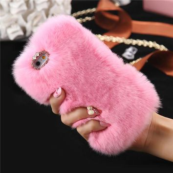 Furry Case For iPhone 5s 5 SE