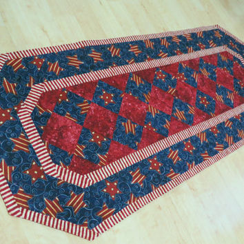 Quilted Table Runner - Americana Patriotic                292
