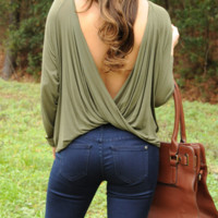 Twisted Love Top: Green | Hope's