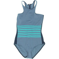 DKNY Swim Womens Racerback Back Zipper One-Piece Swimsuit