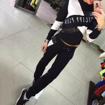 Women Casual Cropped Tops Pullover Hooded Sweatshirts and Pants Two Pieces Sets Suits Tracksuits