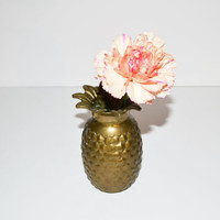 Vintage Brass Pineapple Vase Brass Pineapple Figurine Wedding Table Decor Brass Pineapple Ananas Pina