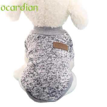Ocardian Warm Dog Hoodies for small dog Pet Clothing Winter Puppy Classic Fleece Sweater Clothes U61222 DROP SHIP