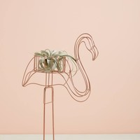 Wired Flamingo Plant Stand