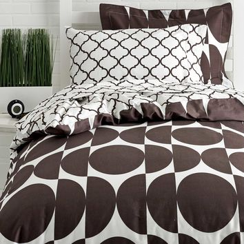 Reversible Twin XL Duvet Cover Set - Oval/Moroccan