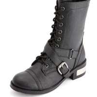 LACE-UP STRAP COMBAT BOOT