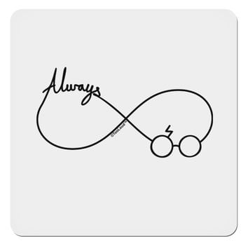 "Always Infinity Symbol 4x4"" Square Sticker"