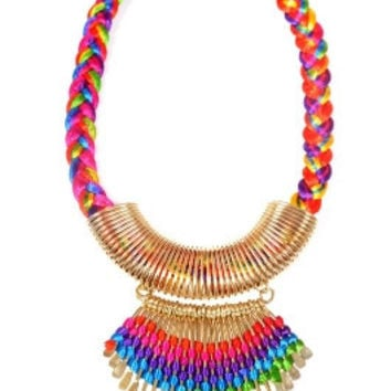 Extended Tribal Necklace- Gold