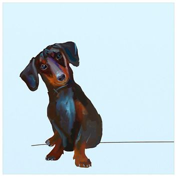 Best Friend - Tippy The Dachshund Wall Art