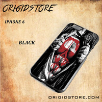 Superman Blood Open Cloth Snap on 2D Black and White Or 3D Suitable With Image For Iphone 6 Case