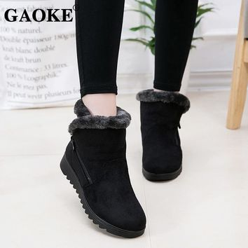 2018 Woman Shoes Woman Winter Snow Boots Warm Ankle Boots Platform Rubber Female Boots Winter Snow Footwear Lady Low Heel Shoes