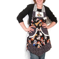 Sew Girls Fun Womens Full Apron with Polka Dots by SeamsVictorian