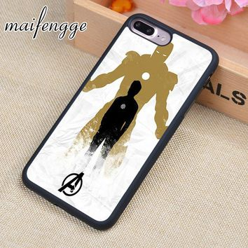 maifengge Silicone case Marvel hero ironman iron man Design Colorful Cute phone Accessories For case 7 7PLUS