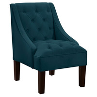 Isabelle Swoop-Arm Chair, Dark Teal, Accent & Occasional Chairs