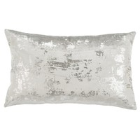 Safavieh Edmee Grey/ Silver Metallic 12 x 20-inch Pillow | Overstock.com Shopping - The Best Deals on Throw Pillows