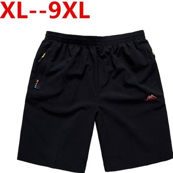new 9XL 8XL  Casual Men Shorts Beach Board Shorts Men Quick Drying Summer Style Solid Polyester New Brand Clothing Boardshorts