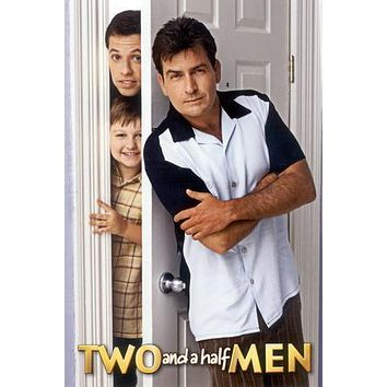 Two And A Half Men poster Metal Sign Wall Art 8in x 12in