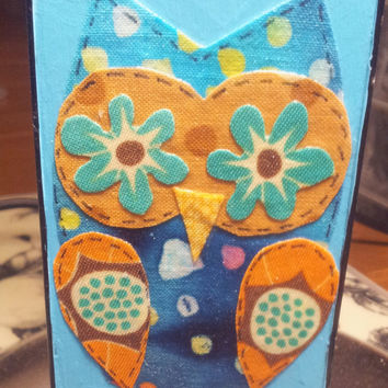 Blue Owl Fabric iPhone 4 4s Hard Cover Case by kaylafenton on Etsy