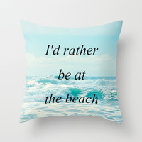 Beach. Throw Pillow by Jessica Rose