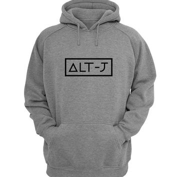 alt j Hoodie Sweatshirt Sweater Shirt Gray for Unisex size with variant colour