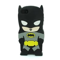 Universal Trading Superheroes & Superman series Design Cartoon Silicone case For Iphone 5C(Batman Blck)