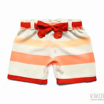 Toddlers shorts PDF pattern - easy girls sailor shorts pants with elastic waist - 6mths to 6 years