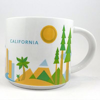 California Starbucks Coffee Mug Cup 2013 14oz You Are Here Collection k337