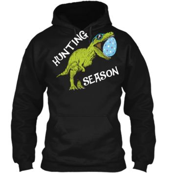 Hunting Season Easter Shirt Toddler with Dinosaur Graphic Pullover Hoodie 8 oz