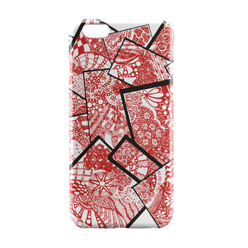 Cute Line Art Doodle Red iPhone 6 | iPhone 6S Case by Stuti