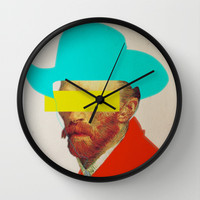 I wanna be a cowboy 3 Wall Clock by Marko Köppe