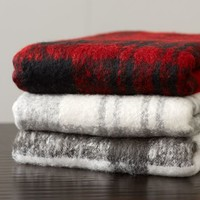 MOHAIR PLAID THROW