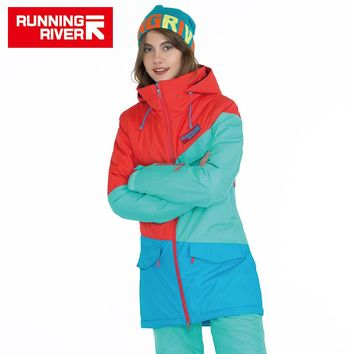Women Snowboard Jackets For Winter Warm Mid-thigh Outdoor Sports Clothing High Quality Sport Jacket