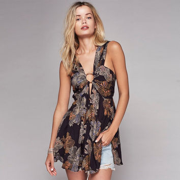 Free People Nessa Printed Ring Tunic