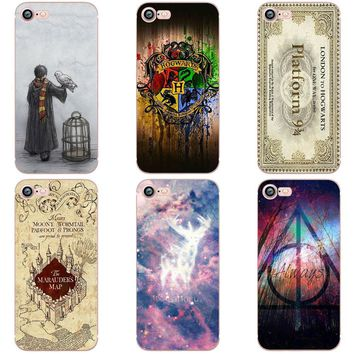 Harry Potter Case for iphone 6 6S 5S SE 7 7plus 6Plus Soft Silicone TPU Cover