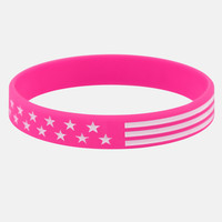 Tactical Pink White Wristband