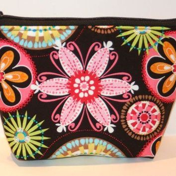 Carnival Blooms Padded Zippered Flatbottom by nangatesdesigns