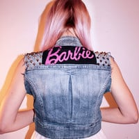 Barbie Studded Denim Vest