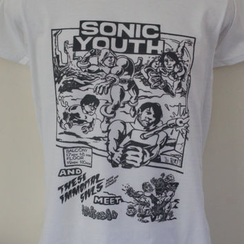 Sonic Youth t-shirt old gig flyer Jesus Lizard Gig Poster Scratch Acid Fugazi Pavement Swans Tomahawk