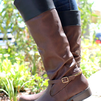 Equestrian Hearts Boot - Brown