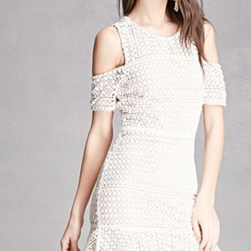 Crochet Open-Shoulder Dress