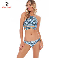 New Floral Print Bikinis Women Swimwear Women Swimsuit Ladies Bikini Beach Wear