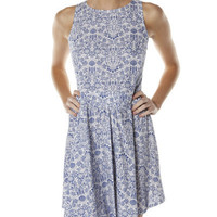 SURFSTITCH - WOMENS - DRESSES - CASUAL DRESSES - THIS AND THAT CHINA DRESS - BLUE