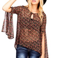 Floral Flight Blouse