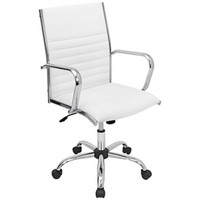Master White Leatherette Office Chair - #2G924 | LampsPlus.com
