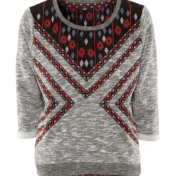 Geometric embroidery sweater AD813DF