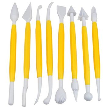 World Pride 8pcs Cake Fondant & Gumpaste Decorating Modeling Tools Set, 16 Designs
