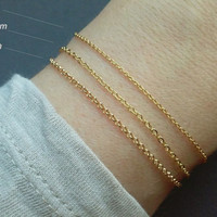 Thin Plain Chain Bracelet / Alone Dainty Bracelet / DIY / Bracelet Base / Minimalistic Jewelry / Create a Jewelry / Everyday Jewelry / B418